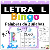 Letra L  Bingo (palabras CVCV)