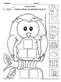 Letra L l set of Initial sound Worksheets  SLA