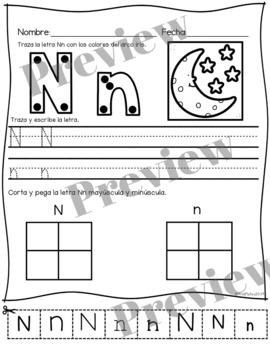 Letra Nn la consonante- actividades y libritos