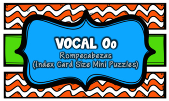 Letra O Index Cards Vocabulary Puzzles (Rompecabezas)