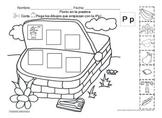 Letra Pp set of Initial sound Worksheets  SLA