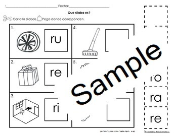 Letra Rr Silabas Activities Bundle Pack