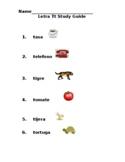 Letra Tt Examen Vocabulario