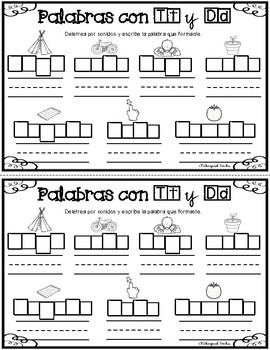 Letra Tt y Dd: Mini Librito 2 (Primer Grado)