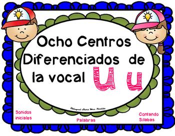 Letra U Centros LectoEscritura vocal U u Mrs. Partida