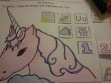Letra Uu set of initial sound Spanish Worksheets SLA