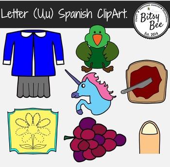 """Letra """"U,u""""  Vocales. Clip Art para Vocabulario en español."""