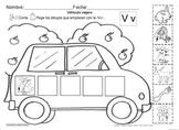 Letra Vv set of Initial sound Worksheets SLA
