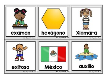 Letra X Xa Xe Xi Xo Xu Picture Cards In Spanish Tarjetas Fichas Con Fotos