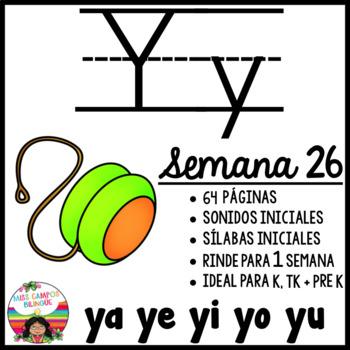 Letra Y Silabas  YA YE YI YO YU
