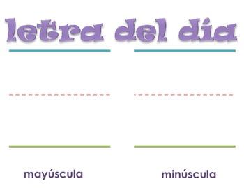 Letra del dia Poster (SPANISH)