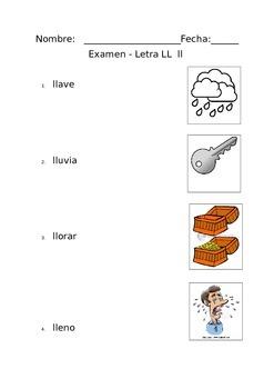 Letra ll Vocabulario Examen