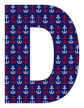 Letras Dia De Logros Motivo Nautical