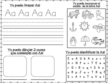 letras fabulosas spanish alphabet practice worksheets tpt. Black Bedroom Furniture Sets. Home Design Ideas