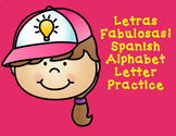 Letras Fabulosas:  Spanish Alphabet Practice Worksheets #t