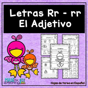 Letras Rr -rr y los Adjetivos
