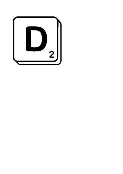 Letras Scrabble.