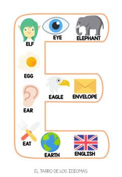 Letras de abecedario INGLÉS / Letters alphabet ENGLISH FULL + POSTER