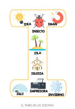 Vocales abecedario español / Vowels alphabet Spanish FREE sample + POSTER