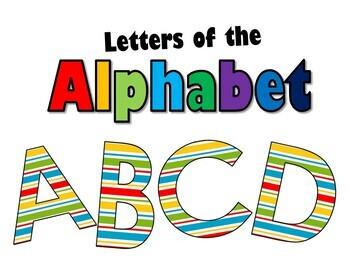 Letras del ABECEDARIO /ALPHABET Letters