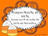 Letras del abecedario en espanol Rompecabezas de sonido in