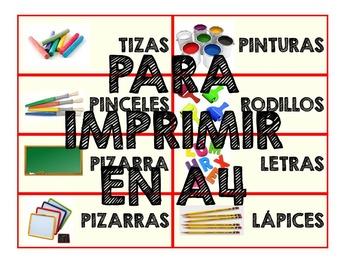 Letreros para Imprimir Materiales Educación Infantil en Español a4 descargar