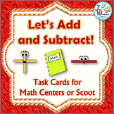Addition and Subtraction Task Cards with Word Problems