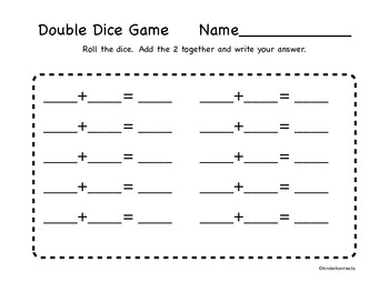 Let's Add with Dice 6 to 10!