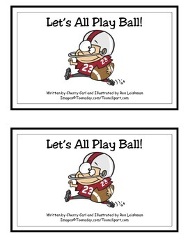 Let's All Play Ball! Guided Reader (-all Word Family Reader)
