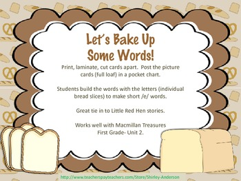 Let's Bake Up Some Words (with short e)