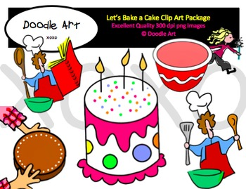 Let's Bake a Cake Clipart Pack