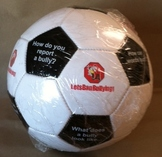 Let's Ban Bullying Soccer Ball