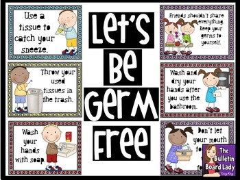 Let's Be Germ Free Bulletin Board