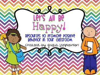 Let's Be Happy! {Resources to Promote Positive Behavior in