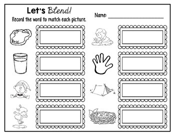 Let's Blend!- Ending Blends Word Work