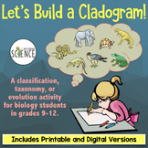 Cladogram Activity: Classification, Taxonomy, Cladistics