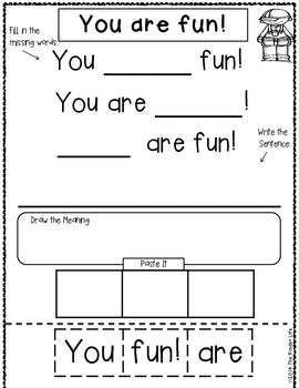 Let's Build Some Sentences! Interactive Sentences for Beginning Writers
