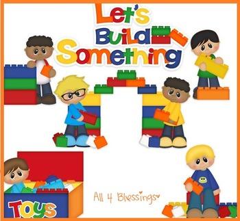 Let's Build Something Digital Clipart CLIP ART Cu Ok ~ Building Blocks Math Toys