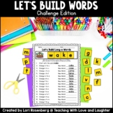 Building Words {Challenge Edition}