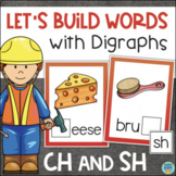 SH and CH Digraphs Center