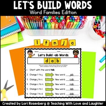 Building Words {Word Families Edition}