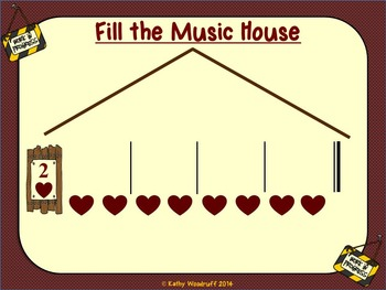 A Lesson in Meter - Let's Build a Music House - Backgrounds for IWBs