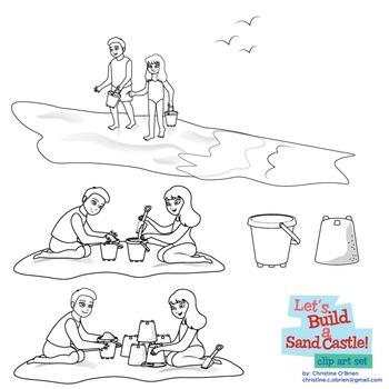 Let's Build a Sand Castle! Beach Clip Art