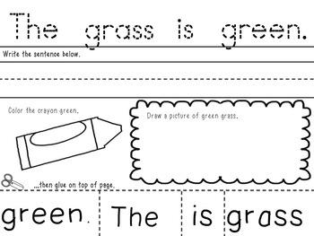 Let's Build a Sentence/Color Words