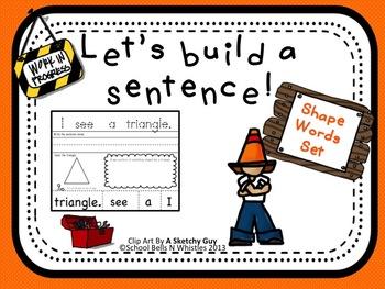 Let's Build a Sentence/Shape Words