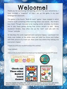 Let's Build a Snowman Phonics Game