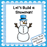 """Let's Build a Snowman"" Roll and Draw Math Game"