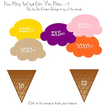 Let's Build an Ice Cream Cone - Multiplication Skills