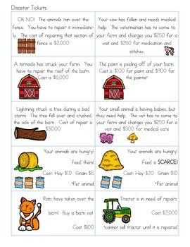 Let's Buy a Farm Financial Literacy for 3rd Grade