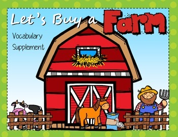Let's Buy a Farm Vocabulary Supplemental Activities